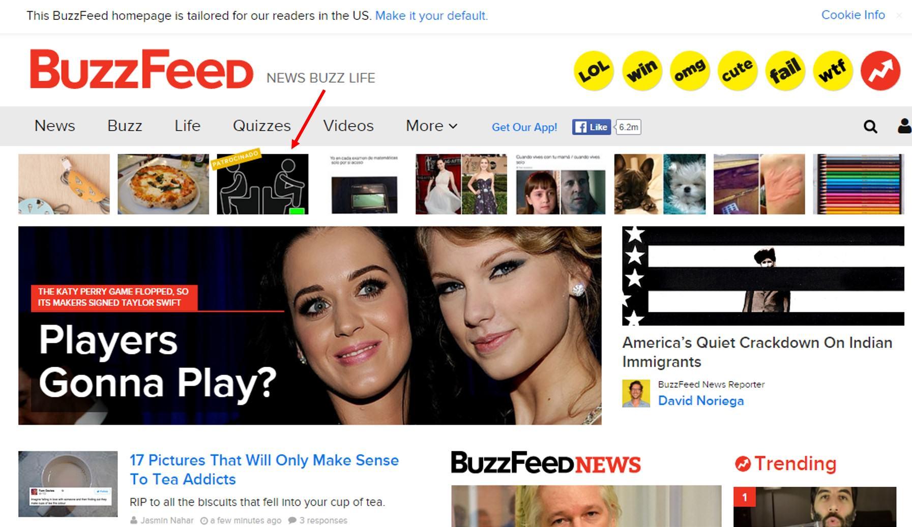 Publicidad nativa en Buzzfeed.com