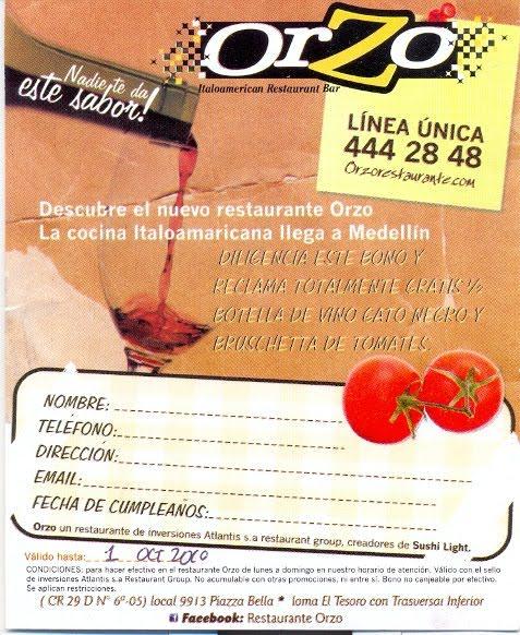 Restaurante Orzo Medellin