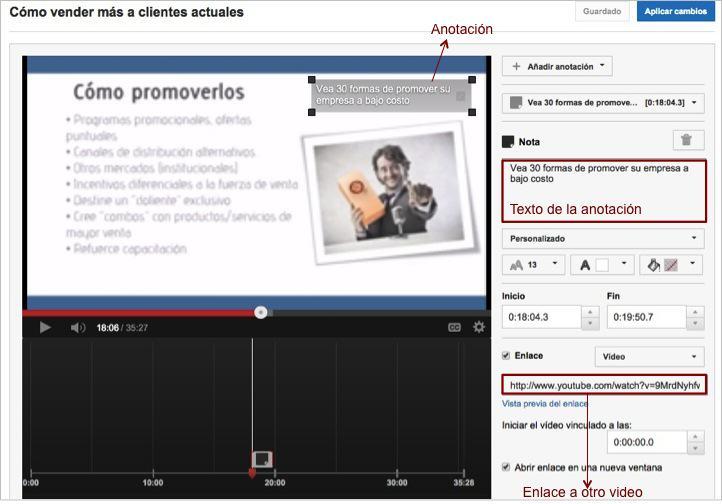 SEO YouTube Anotaciones