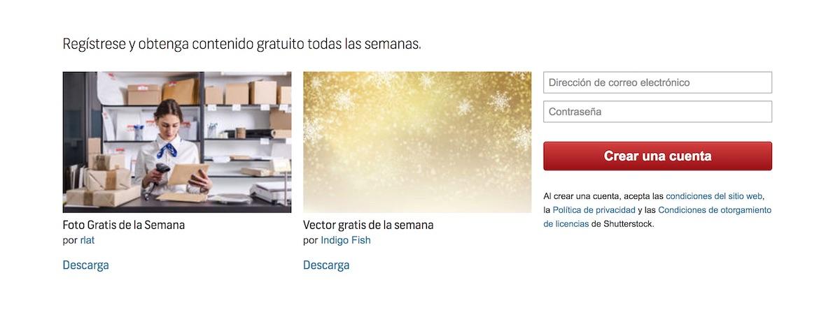 Shutterstock prueba de producto