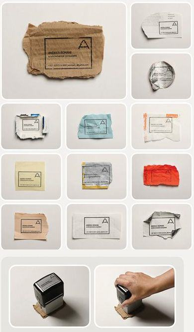 Tarjeta de presentación ecológica