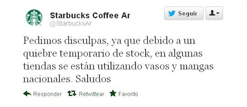 Tweet Starbucks Argentina