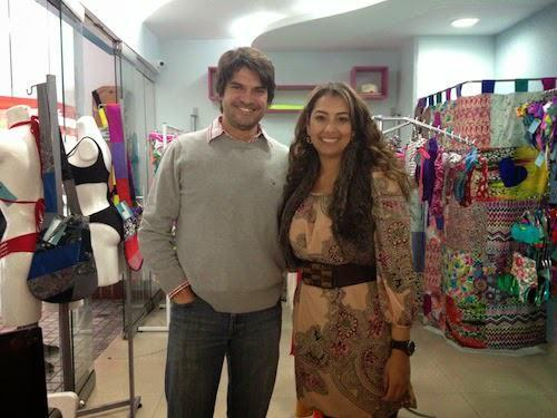 Con la propietaria de Oceana Swimwear, Maria Juliana Ospitia.