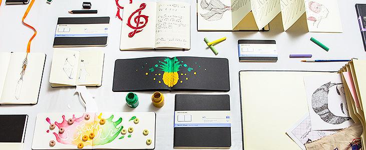 Moleskine para bocetos de arte