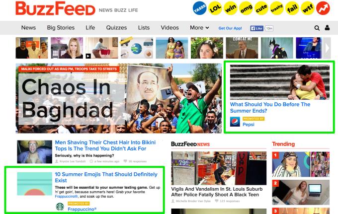 publicidad nativa buzzfeed.com