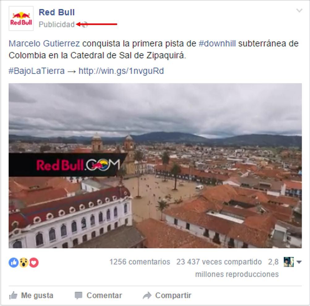 publicidad nativa en Facebook