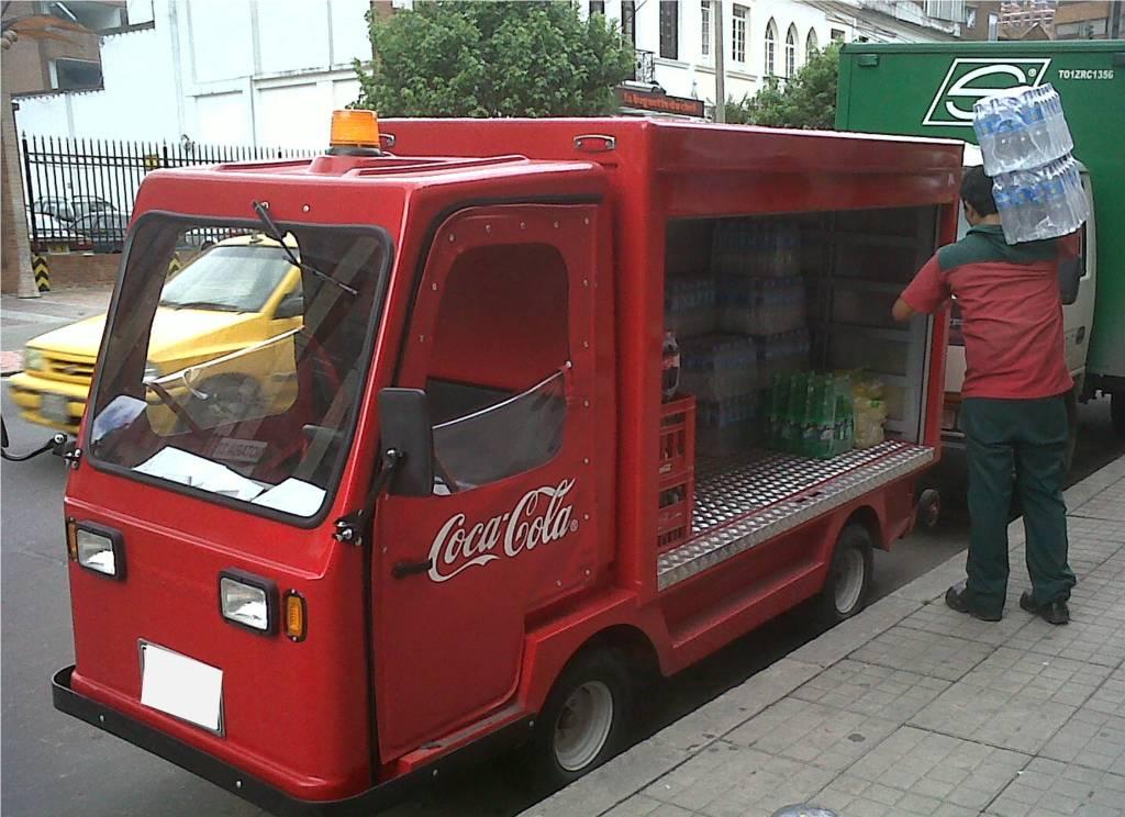 vehiculos ecologicos coca cola