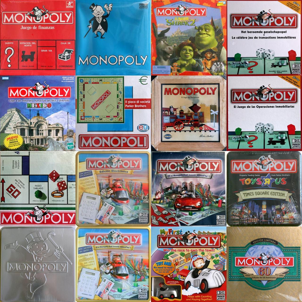 versiones juego monopoly